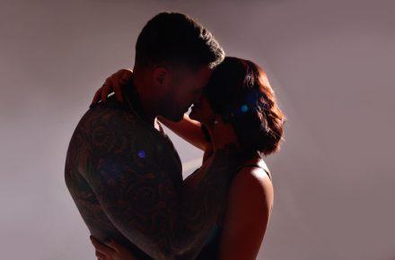 beautiful boudoir erotic couples shoot